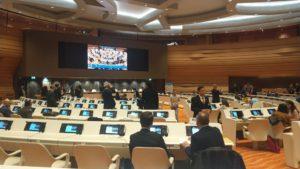 Координатор IGCP Максим Вилков принял участие в работе 9-й сессии Форума по вопросам меньшинств «Национальные меньшинства в условиях гуманитарных кризисов». Форум организован Советом по правам человека при ООН и проходил 24-25 ноября в Женеве на базе Штаб-квартиры ООН. В ходе двухдневных дискуссий обсуждались подготовленные Специальным докладчиком по вопросам меньшинств на эту тему доклад и рекомендации, а также рассмотренны практики защиты прав меньшинств во время кризисов, возникающих в результате конфликтов, природных и антропогенных катастроф и пандемий. Особое внимание будет уделено вопросам предотвращения и уменьшения последствий конфликтов и решения проблем беженцев и вынужденно перемещенных лиц. В рамках сессии представителем IGCP было сделано два доклада: 1) «Положение временно-перемещенных лиц на Украине», 2) «Преследования Украинской православной церкви в ходе конфликта на Украине 2014–2015». Оба доклада были переданы в секретариат Форума для включения их материалов итоговый отчет Совета по правам человека при ООН.